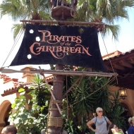 The Pirates of the Caribbean ride...