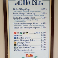 The Menu... It's even on the Disney Dining Plan for resort guests.