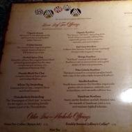 Great tea menu!