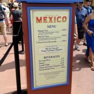 Mexico Menu