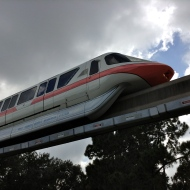 Monorail above us!