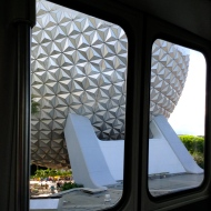 From the monorail...