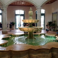 A fountain inside...