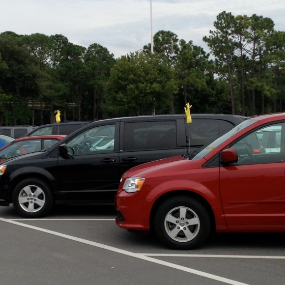 A creative way to locate rental cars!