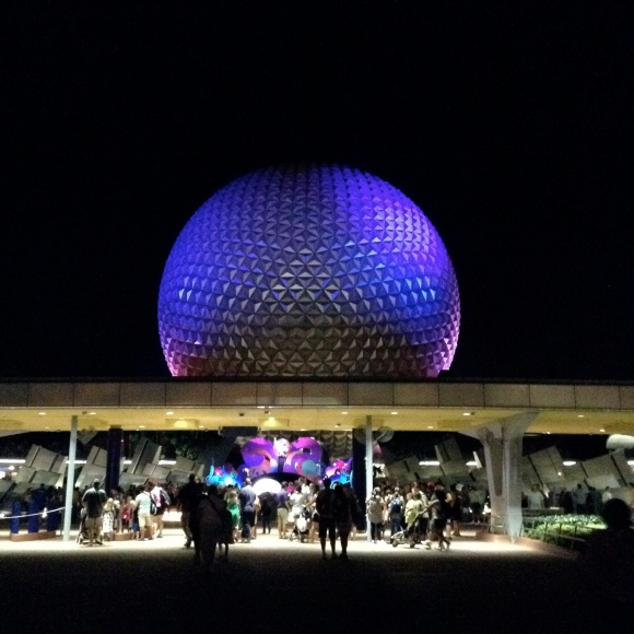 Epcot in the evening!