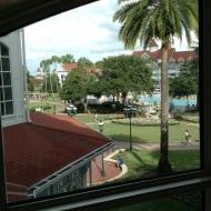 Overlooking the resort...