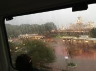 Rainy Monorail ride...
