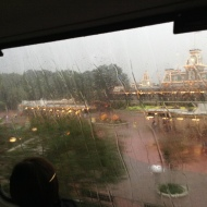 Rainy Monorail ride...