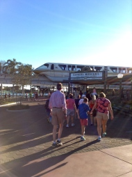 Heading back on the Monorail...